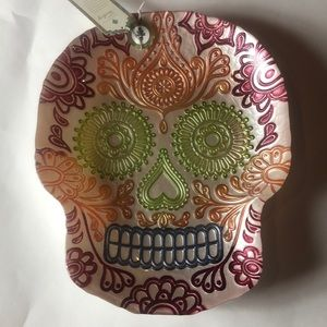 Sugar skull Halloween day of dead platter tray